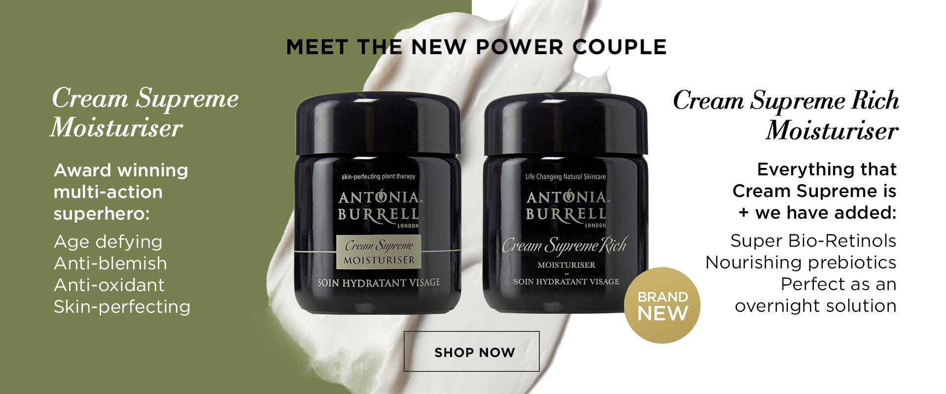 Antonia Burrell Cream Supreme and Cream Supreme Rich